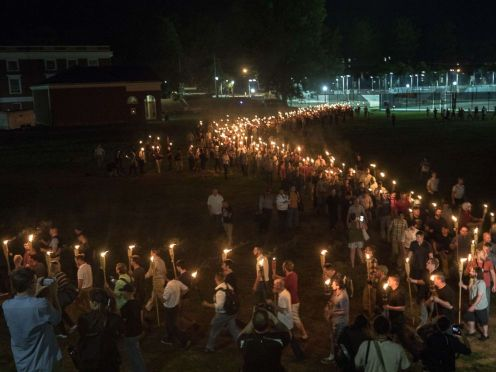 supremacistas brancos em Charlotville, 2017