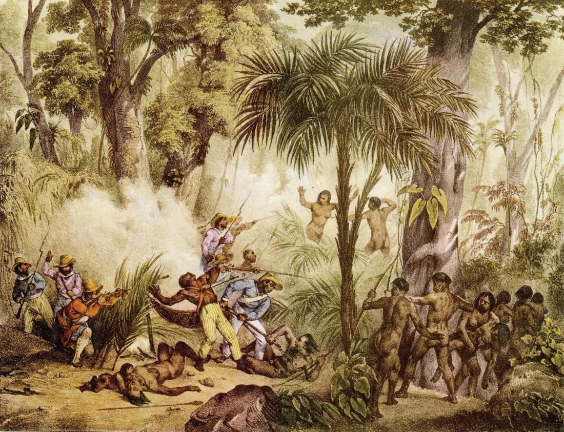guerra dos manaus RUGENDAS 1835