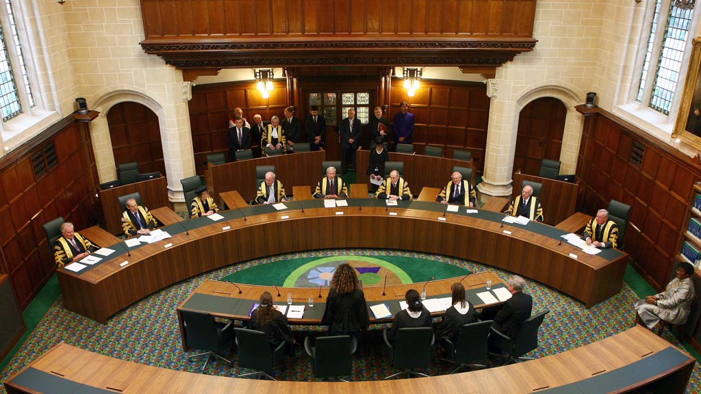 A general view shows Court One during the opening of the Supreme Court of the United Kingdom in London
