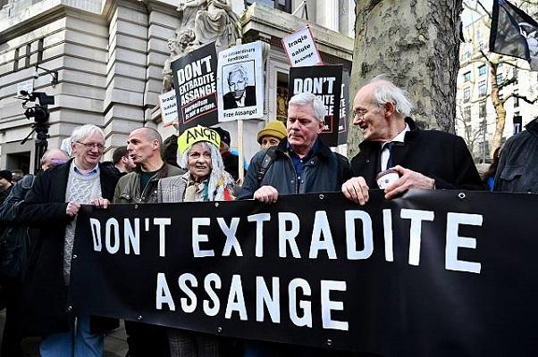 manifetsação pró assange