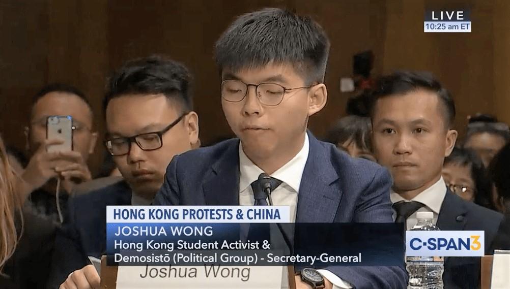 hong kong joshua wong foto clareada