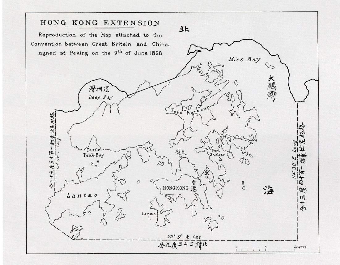 Mapa da Convenção de Hong Kong