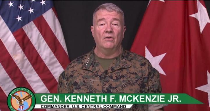 General Kenneth McKenzie, Comandante militar do CENTCOM, o Comando Central dos Estados Unidos