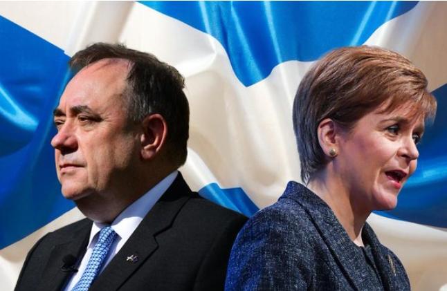 Disputa eleitoral na Escócia: Alex Salmond, pelo partido Alba e Nicola Sturgeon, pelo SNP