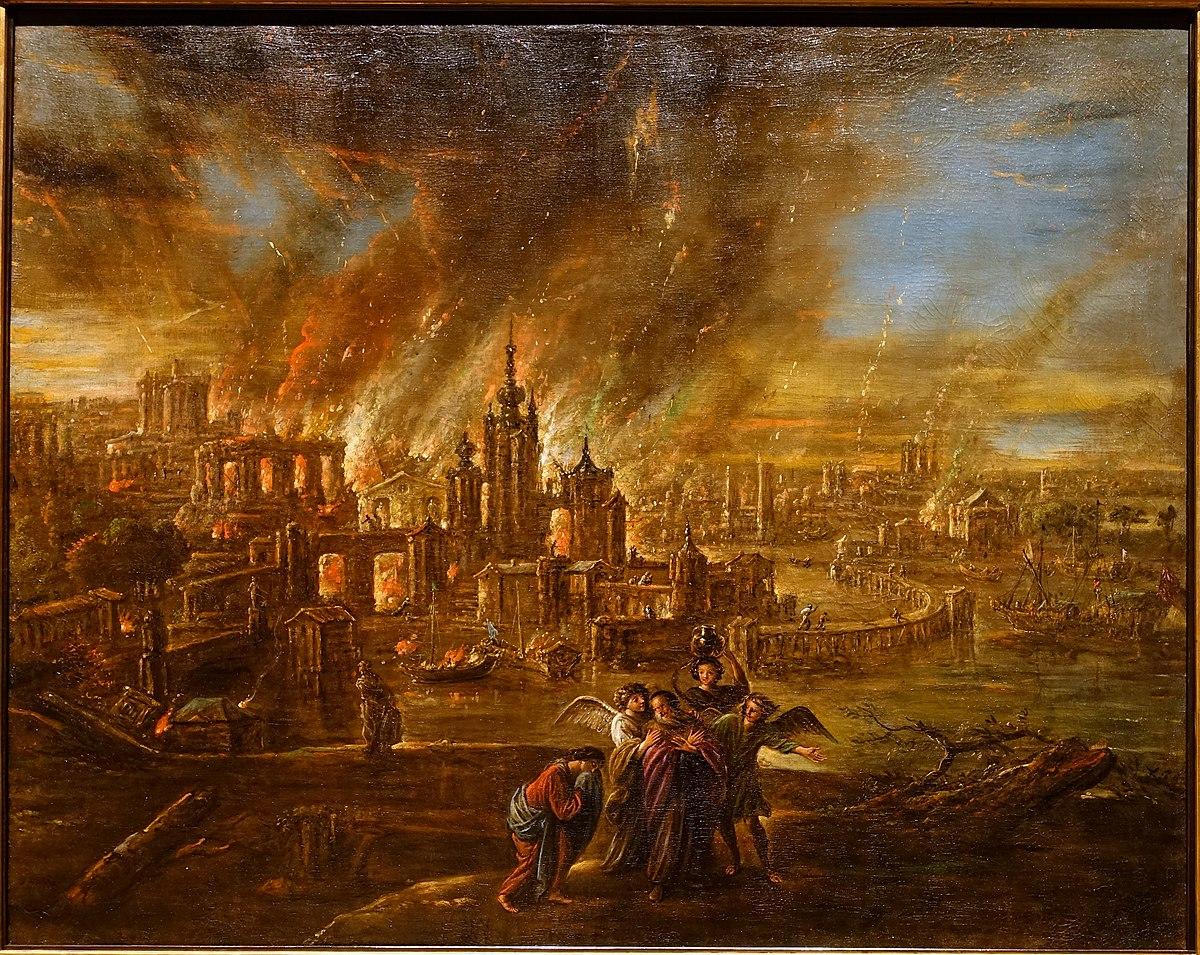 Sodoma e Gomorra em chamas