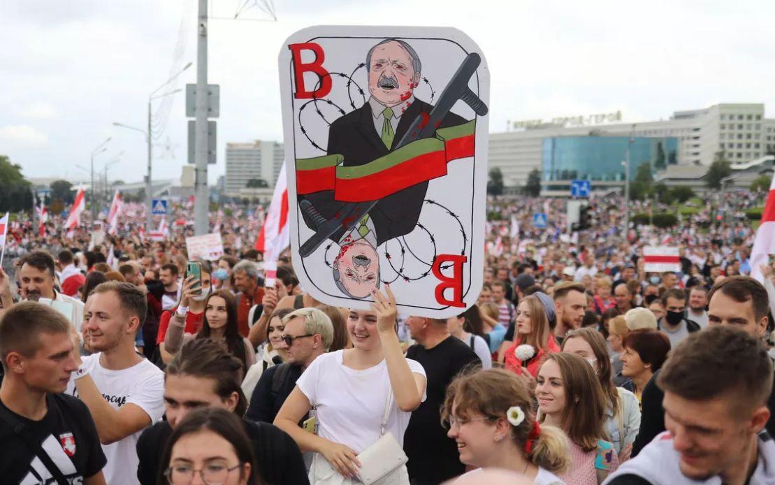 protests against Lukashenko after the presidential elections of August 2020